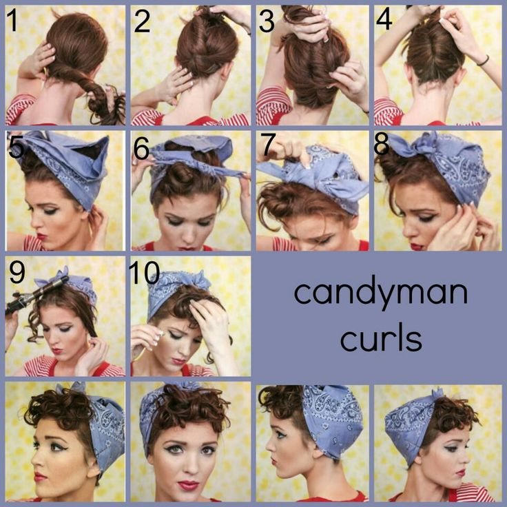 also, if your hair is too big for this, or your bandana too small (as mine is), try putting your hair in a messy bun, with the bandana around it. it'll save you a lot of time and hassle if you already know you have thick and large hair.
