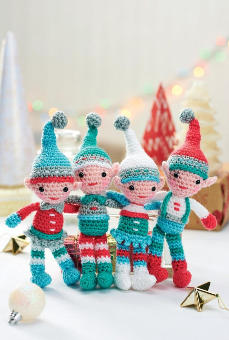 FREE PATTERN: Crochet A Family Of Elves For Christmas