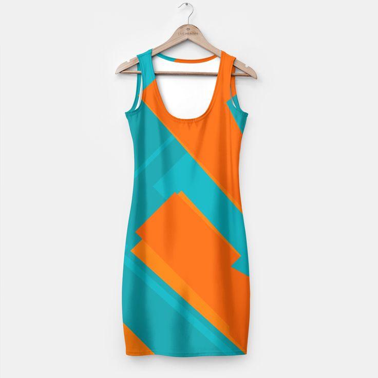 Mavimsi Turuncu Simple Dress, Live Heroes