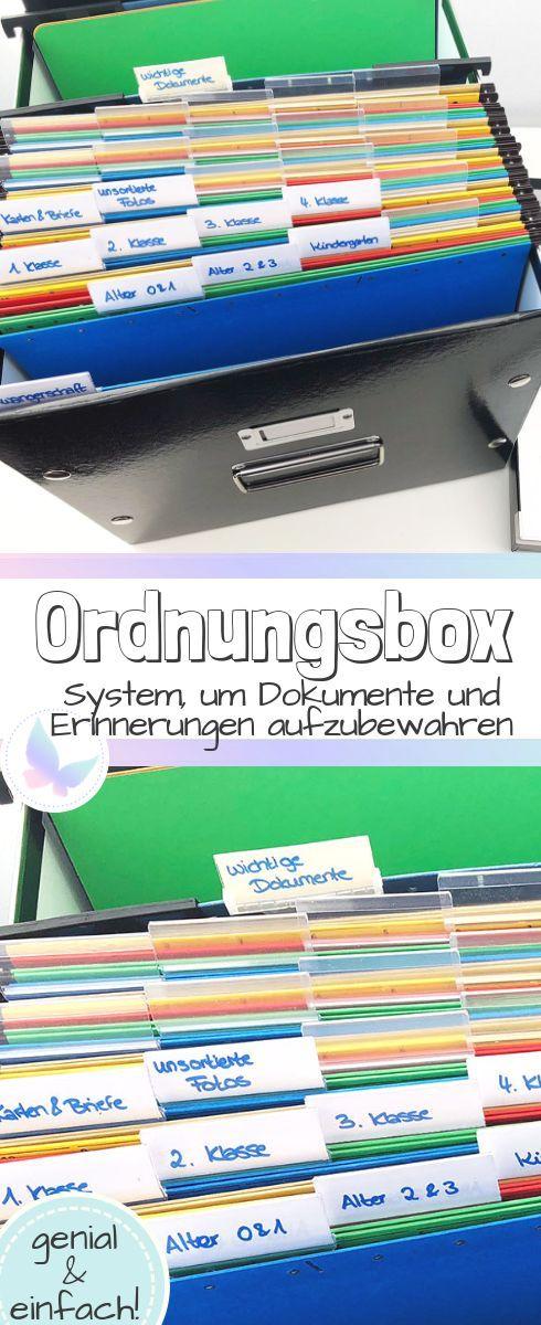 Ordnungs-Box: Ein geniales System um Erinnerungen und Dokumente für dein Kind aufzubewahren