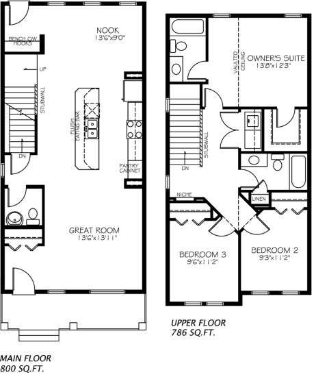 The Paladin model floor plan by Pacesetter Homes.