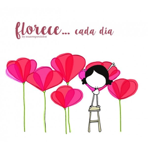"Lámina ""`florece"""