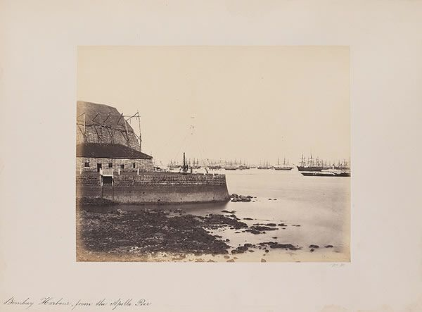 Bombay Harbour from the Apollo Pier, 1855-1862 -Old And Vintage Photographs Of Mumbai Bombay Best of Web Shrine