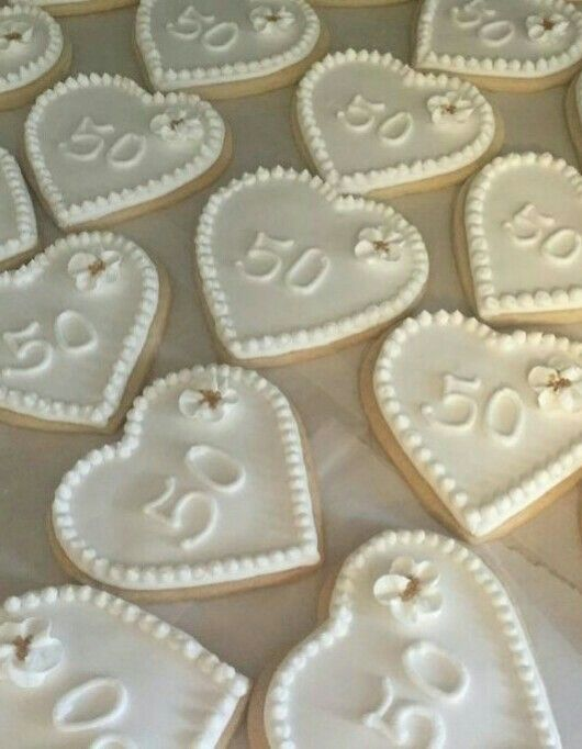 50th Wedding Anniversary Cookies To Give As Guest Favors For The Party In 2018 Pinterest And