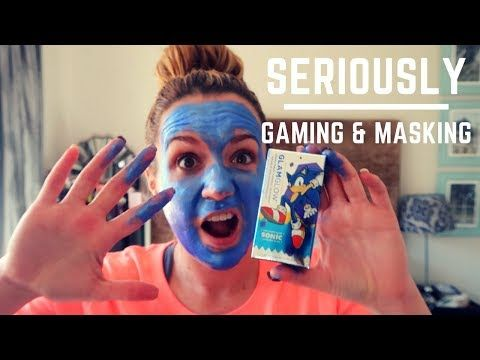 (143) Taking the GLAMGLOW Sonic Blue Gravity Firming Mask in game! This is not CSGO - YouTube