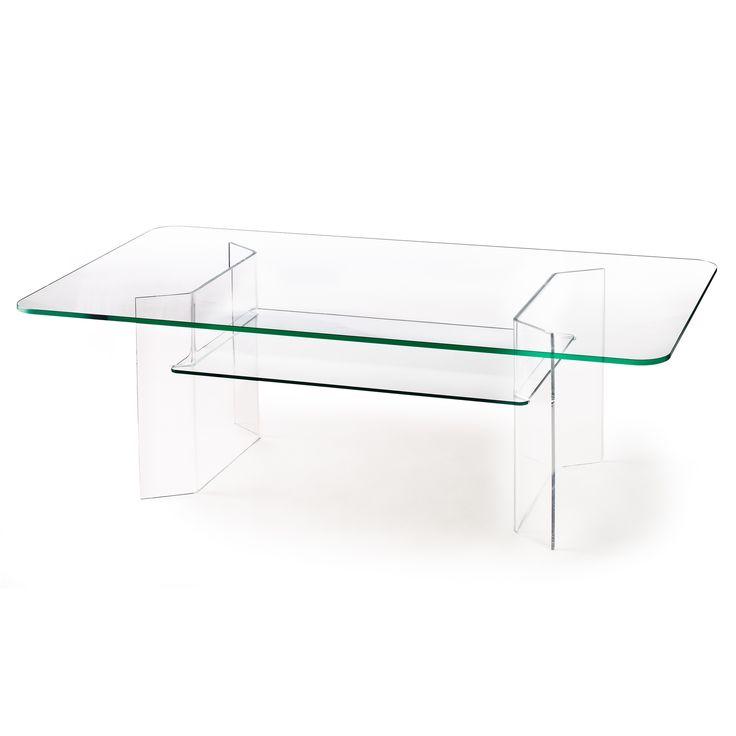 Combiplex Rectangular Coffee Table w/ Shelf