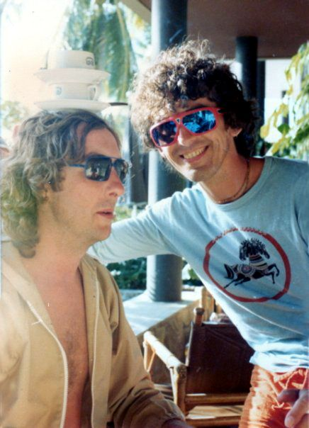 George with his dear friend, Eric Idle