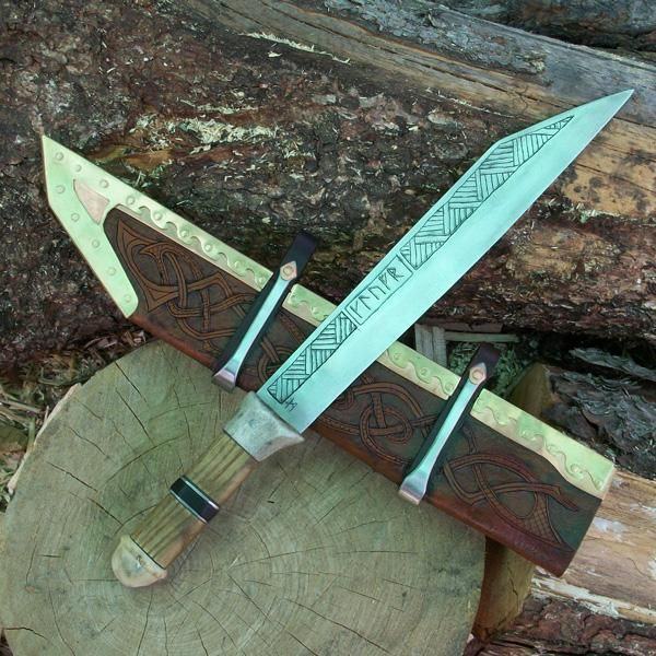 Forged in Time - Handmade Knives - Hand Forged Viking Seax - The ...
