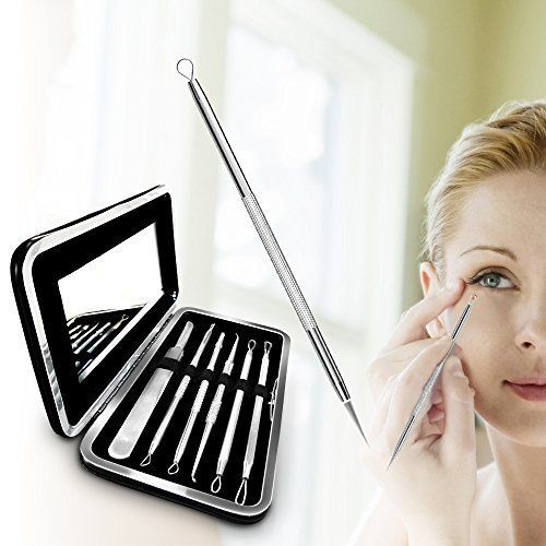 Professional Surgical Blackhead Acne Pimple Remover Tools 6 Pack