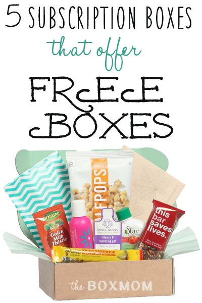 5 Subscription Boxes that offer your first box for Free! This seems like a great way to try them out..I never know if they are worth it!