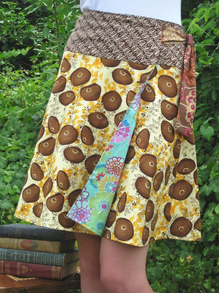 lovejill reversible wrap skirt pattern for women. $12.00, via Etsy.