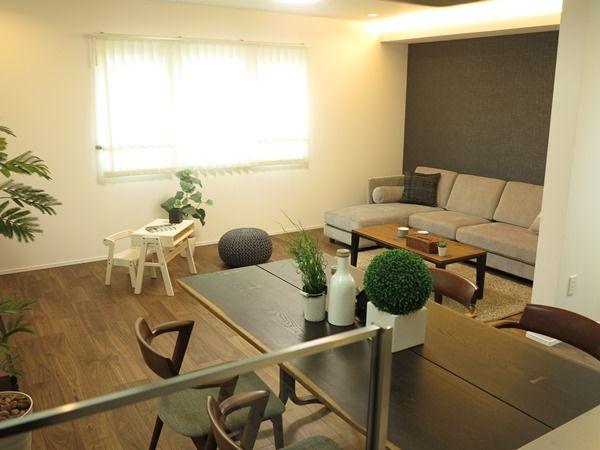 大きなソファ、大きなテーブルを置く家具の配置術を提案!ソファ前を広くするL字型LD空間の使い方②   家具なび~きっと家具から始まる家づくり~ 名古屋・インテリアショップBIGJOYが家具の視点から家づくりを提案
