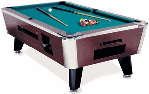 Great American Eagle Coin-Operated Pool Table