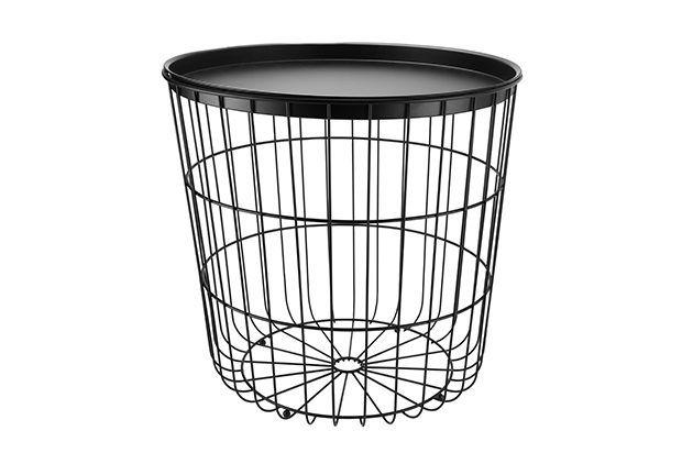 Sainsbury S Home Black Wire Laundry Basket Sainsburys Home Wire
