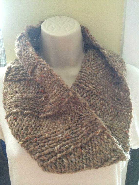 Marled Tweed Ribbed Cowl Free Shipping Summer Sale $40  #knittedwool #summersale #cowl