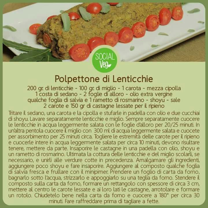 Polpettone lenticchie