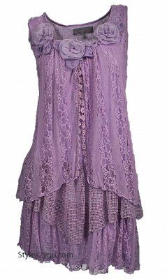 AP Norma Victorian Tunic In Lavender