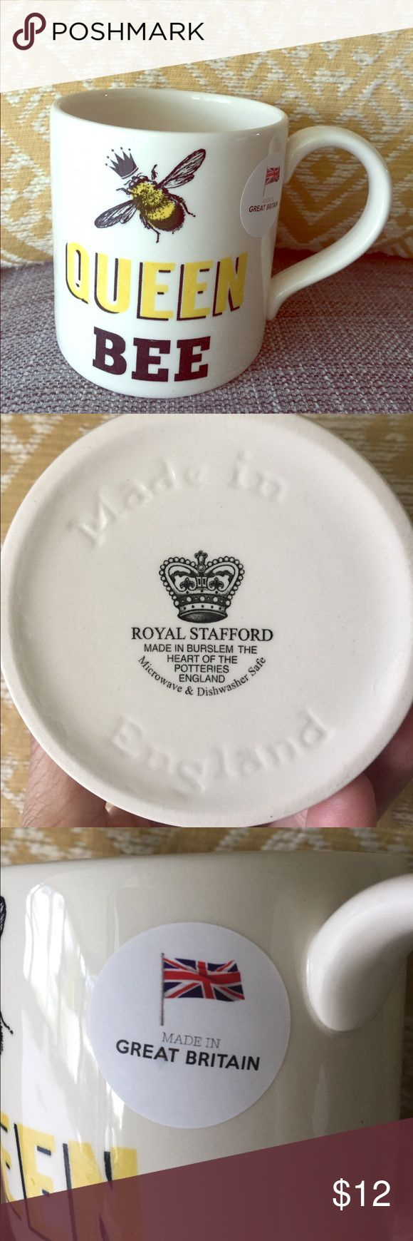 🐝👑Queen Bee🐝 Royal Stafford Mug Royal Stafford 🐝👑Queen Bee🐝🐝 mug // Made in Burslem the heart of the potteries England // Microwave & Dishwasher Safe // Brand New never used Royal Stafford Other
