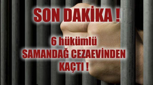 Samandağ cezaevinden 6 kişi kaçtı » İskenderun Haber