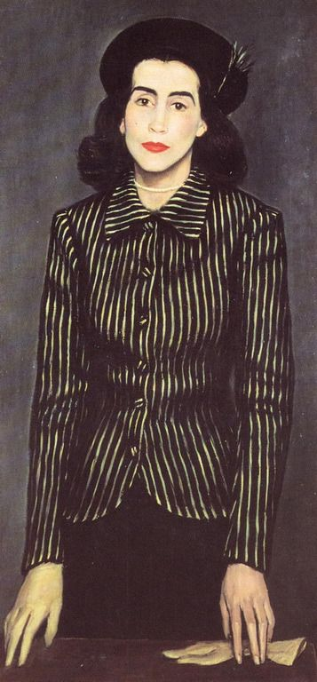 Portrait of Maria Rousen, 1943 by Yiannis Moralis (Greek 1916-2009)