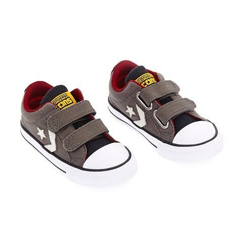 Βρεφικά παπούτσια STAR PLAYER 2V OX καφέ - CONVERSE (1472912) | Factory Outlet