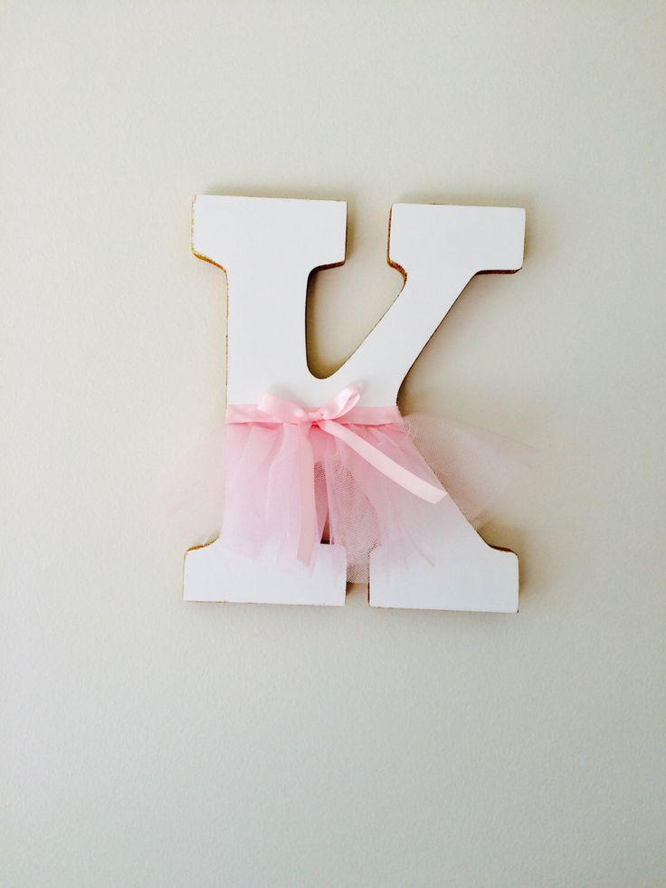 decorative letter, glitter letter, Ballerina letter,  princess letter, princess decor, pink and gold nursery, ballerina decor, tutu decor by JennabooBoutique on Etsy https://www.etsy.com/listing/251925414/decorative-letter-glitter-letter