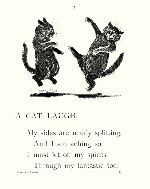 """A Cat Laugh"" - Louis Wain"