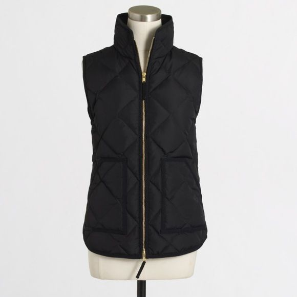 J Crew puffer vest Black quilted puffer vest. Nwt. J. Crew Jackets & Coats Puffers