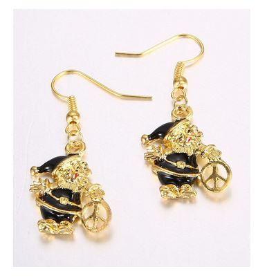 Santa Peace Earrings