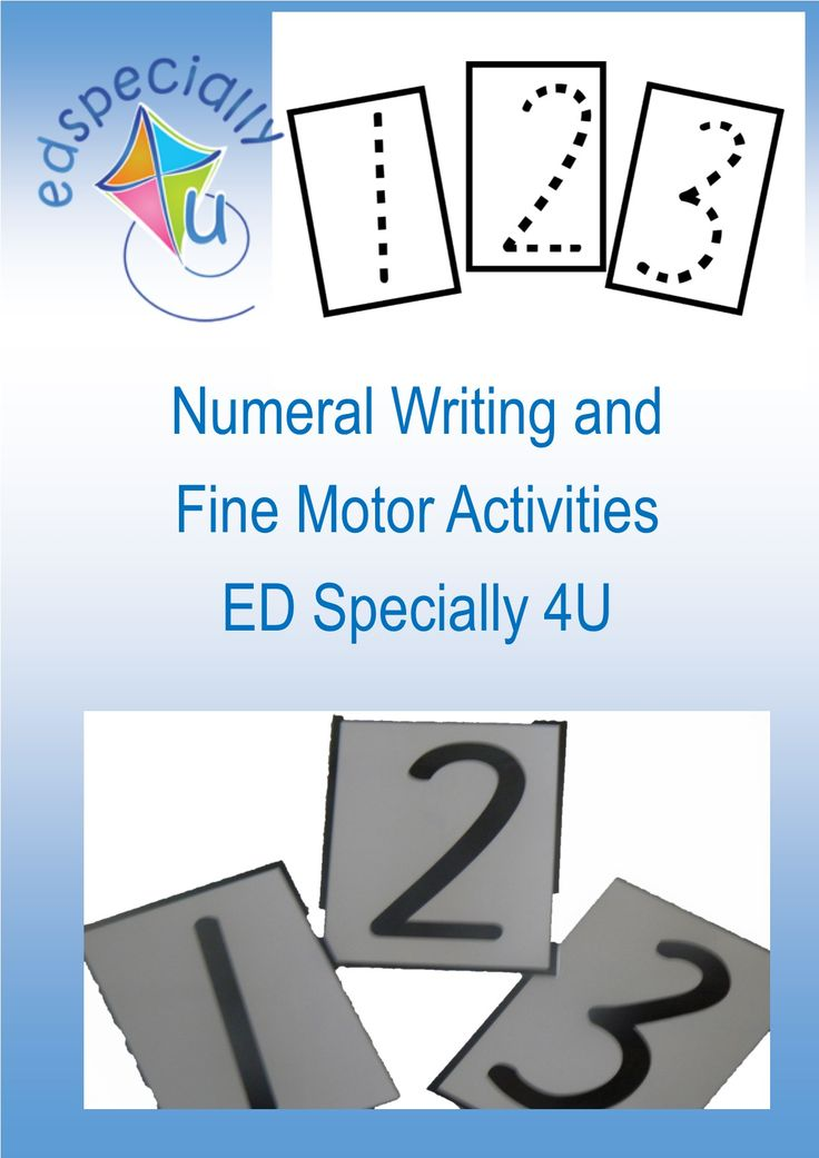 On the blog: Numeral writing and fine motor activities