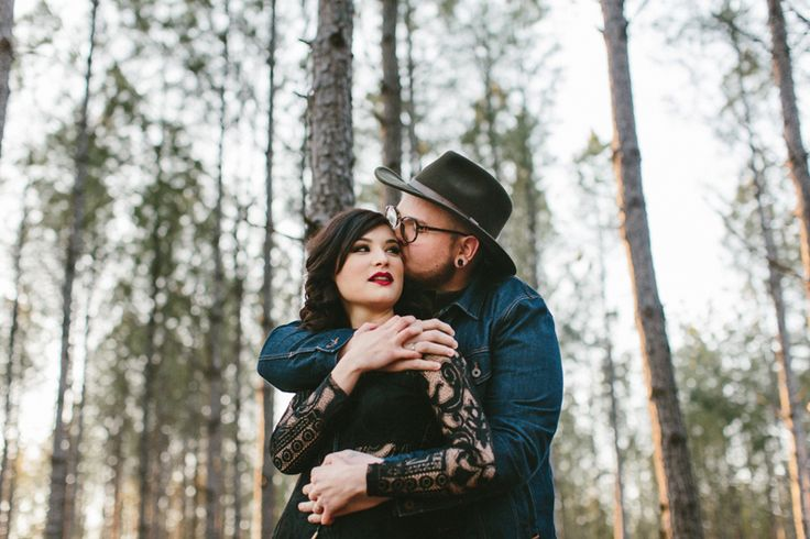 bohemian tree farm engagement, hipster engagement photos