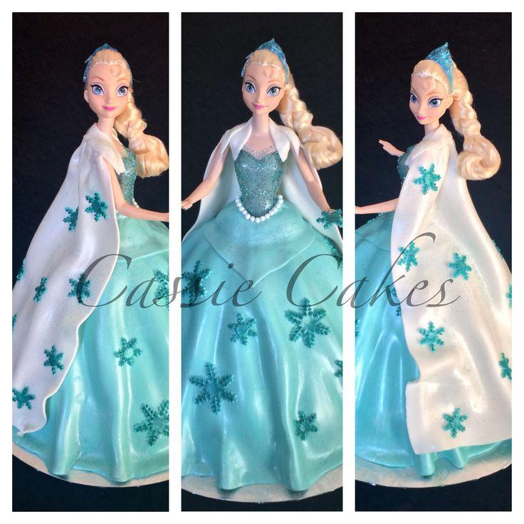 Elsa Cake, Frozen Cake, Doll Cake