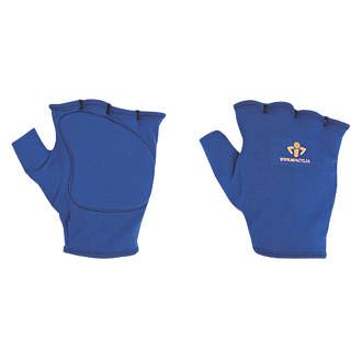 Impacto 501-00 Anti-Impact Glove Liner Blue Fingerless four-way stretch polycotton / lycra glove liner. Visco-elastic polymer palm padding absorbs impact and dissipates shock. Recommended for wearing under any specialist glove. Provides impact  http://www.MightGet.com/january-2017-13/impacto-501-00-anti-impact-glove-liner-blue.asp