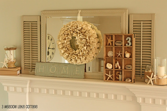 3meadowlakecottage - summer mantel