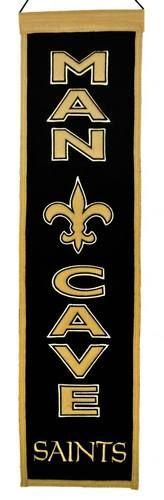 "New Orleans Saints Official NFL 8"""" x 32"""" Man Cave Banner Flag NO Winning Streak"