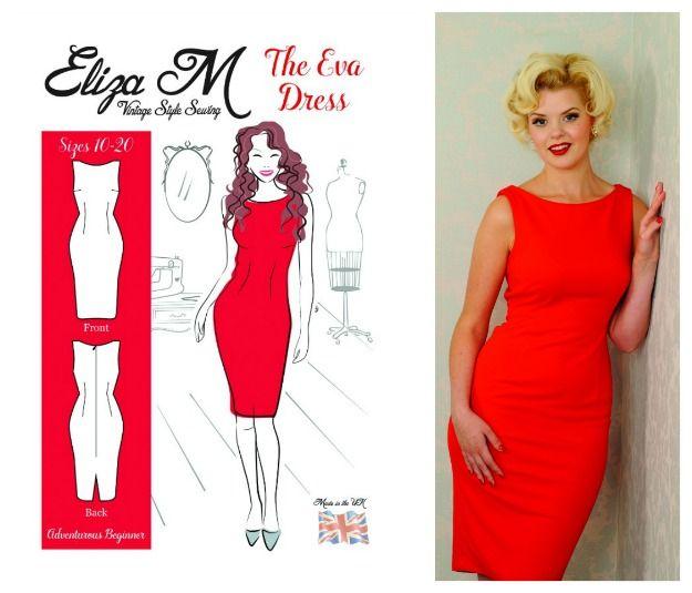 Eliza M's Eva wiggle dress - courtesy of Love Sewing magazine.