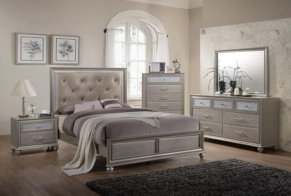Make Sure Your Decor Emanates Your Personal Style With This Glam Bedroom Collection These Pieces Polished F King Bedroom Sets Bedroom Sets Queen Bedroom Sets