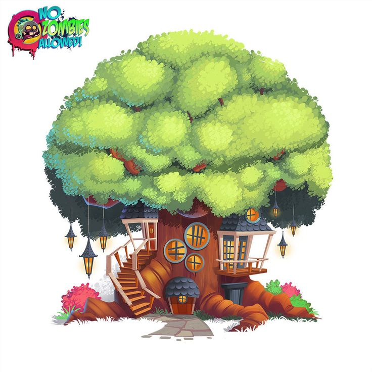 No Zombies Allowed Tree House by *frogbillgo on deviantART