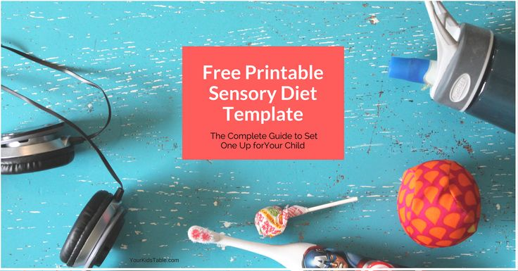 Get this awesome printable sensory diet template! Plus, 4 simple steps to create your own sensory diet, tons of examples, and sensory activity ideas.