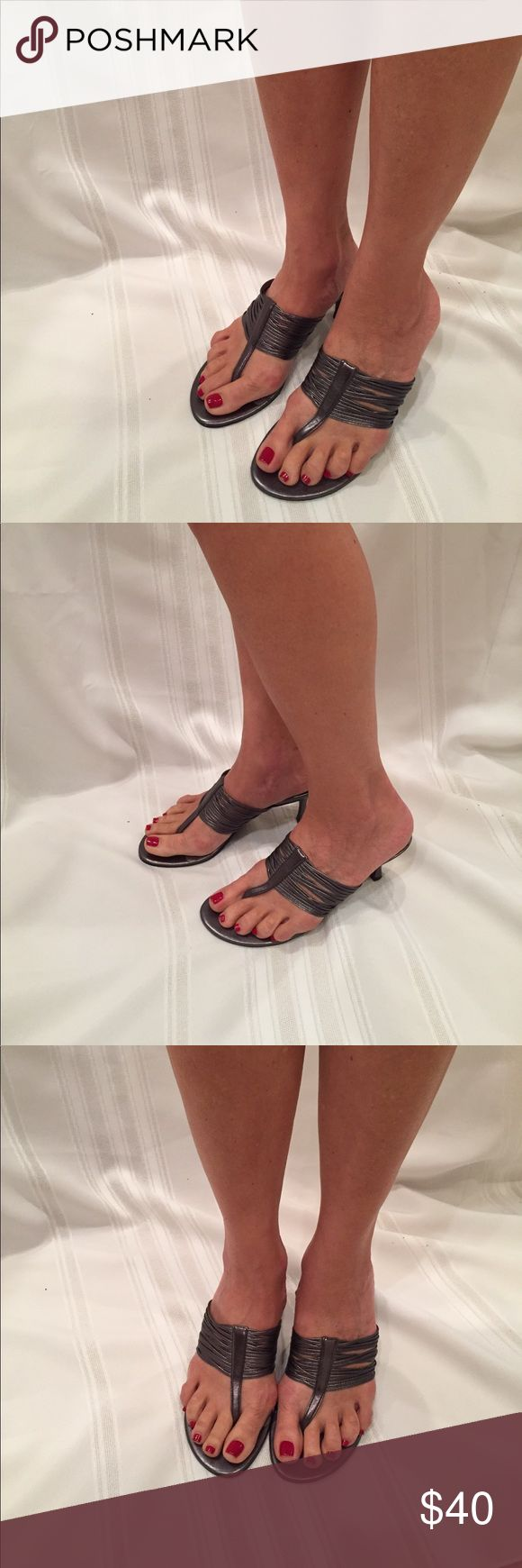 NWOT pewter sandals NWOT Moda spana sandals in pewter.  I have never worn these, but for some reason the instep is peeling a bit (see pic)....but you can't see it when the shoe is on.  They will look great on you! 😍 Moda Spana Shoes
