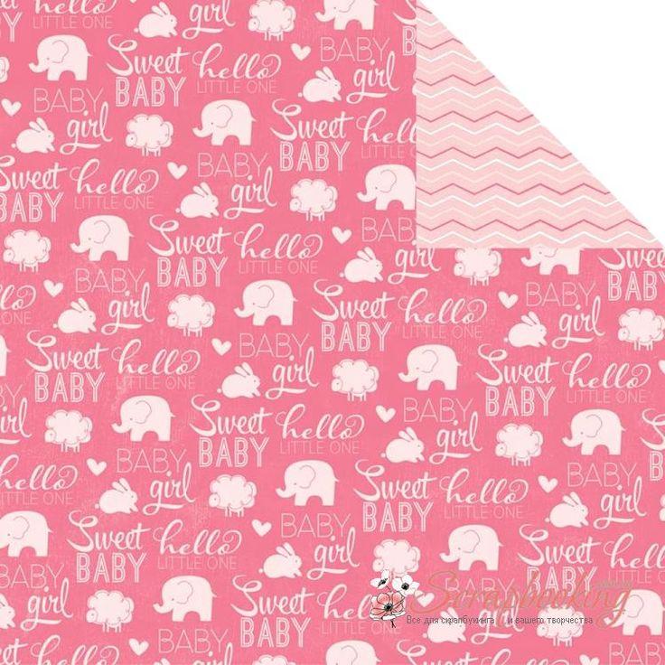 Лист бумаги для скрапбукинга Sweet Baby Girl из коллекции My Baby Girl производителя Imaginisce. Размер листа 30*30см. Плотность бумаги 180гр/м2, бумага с двусторонней печатью