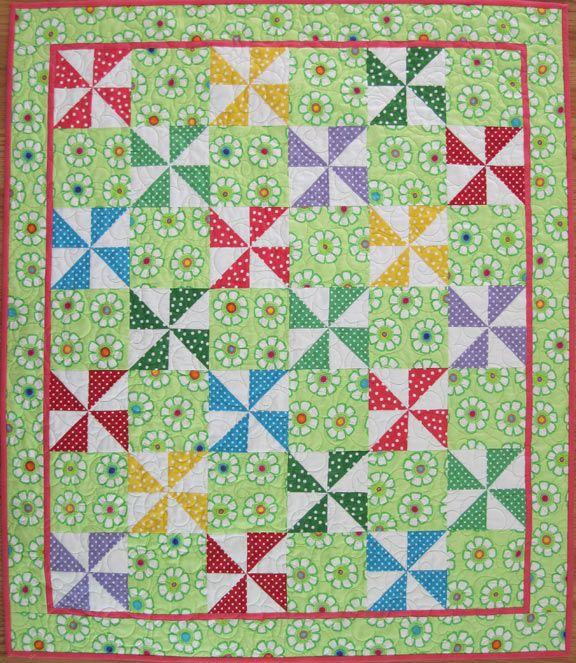 pinwheel quilts | Polka Dot Pinwheel Quilt — Free Pattern