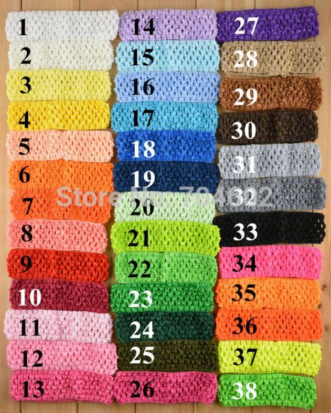 "38Colors Free Shipping Wholesale 50pcs/lot Hi-Quality 1.5"" Newborn Infant baby girl Top TuTu crochet headband Hair Bow FD099"
