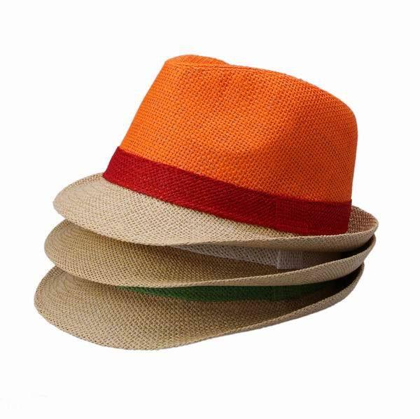 Цвет выберите горячая распродажа весна лето соломенные шляпы для женщин мужчин лоскутное дизайн шляпа солнца пляж шапки с плоским верхом узкий брим