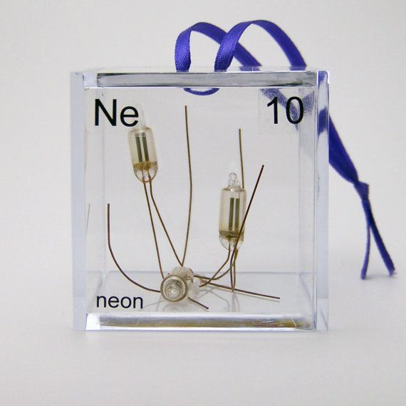 Neon Periodic Table | Neon Periodic Table of Elements Cube Ornament by ElementsCubed