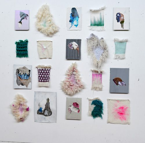 saritasunbeam:  loom-ing:  John Brooks Ecology of Process weaving  collage 2013  too much texture to handle. i am in love.