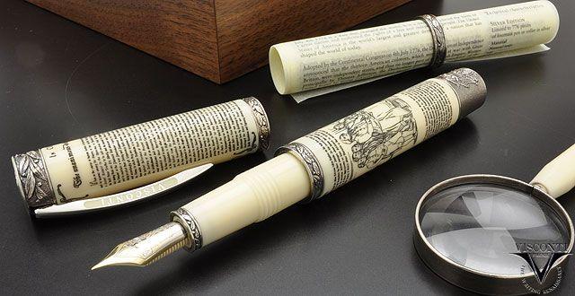 【楽天市場】ビスコンティ 万年筆 限定品 独立宣言1776 V29052 シルバー【送料無料・ラッピング無料】【高級万年筆】 (320000):万年筆 ボールペン ならペンルーム