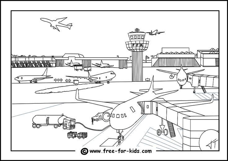 Ausmalbilder Flughafen
