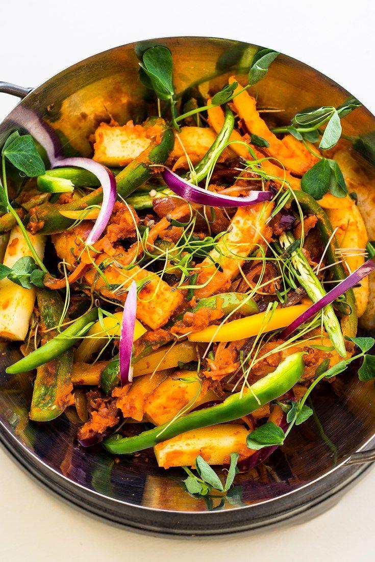 Alfred Prasad serves up his take on a paneer jalfrezi recipe.