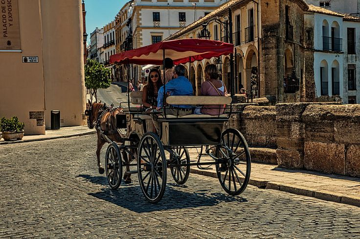 Horse Carriage In Ronda. Spain by Jenny Rainbow